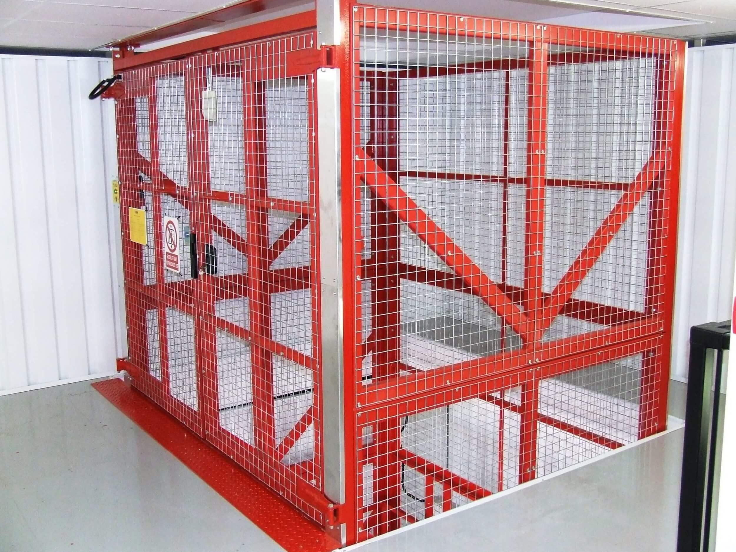 4 Secure Self Store Transdek Mezzanine Floor Lifts